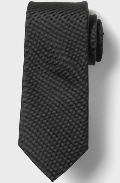 Stain-Resistant Solid Oxford Tie