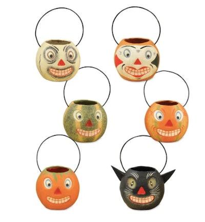 Vintage Halloween candy buckets