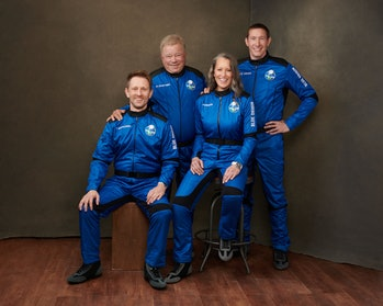 The astronauts and crew of Blue Origin's NS-18 flight, which departs the West Texas Earth for the ed...