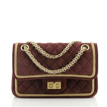 Reissue 2.55 Flap Bag Quilted Suede Chanel