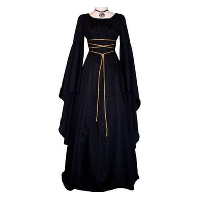 Product image for women's witch costume; black dress