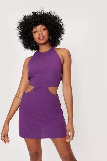 Jules wears a purple mini dress on 'Euphoria.'
