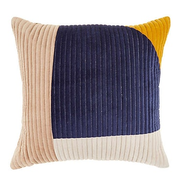 Channel Stitched Square Throw Pillow