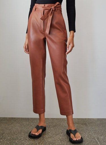 Vegan Leather Belted Pant Babaton
