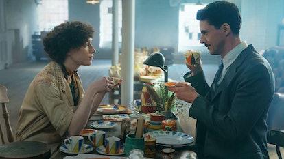 Phoebe Dynevor & Matthew Goode in 'The Colour Room'