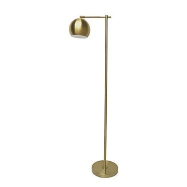 Globe Floor Lamp in Brushed Gold with Metal Shade