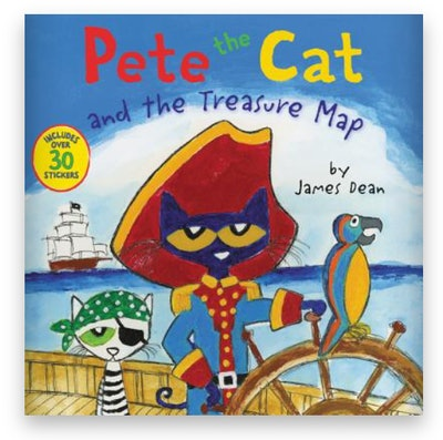 Cover art for 'Pete the Cat and the Treasure Map'