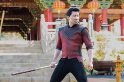 """Shang-Chi in a still from the movie """"Shang-Chi and the Legend of the Ten Rings."""""""