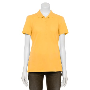 The robot doll in 'Squid Game' wears a yellow collared shirt.