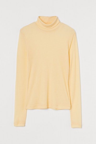 Fitted Polo-Neck Top