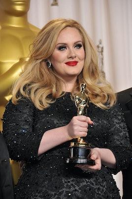 Adele with her Oscar