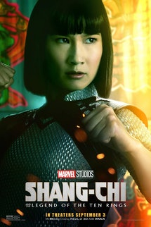 A Shang-Chi and The Legend Of the Ten Rings movie poster featuring Shang-Chi's little sister, Xialin...