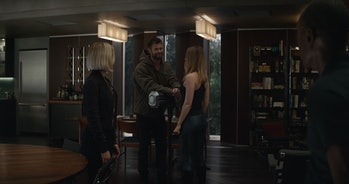 Thor and Captain Marvel come face-to-face for the first time in Avengers: Endgame