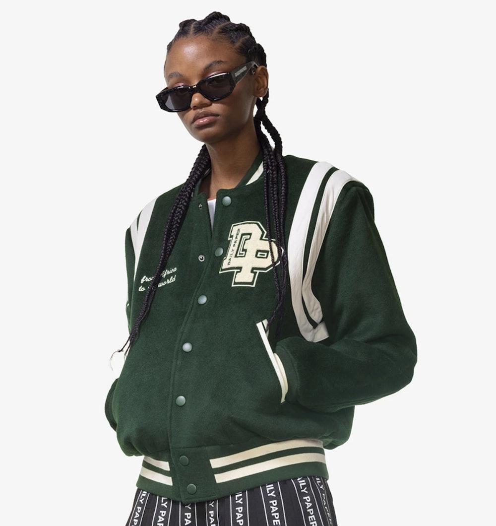 Mountain Green Hobe Varsity Jacket
