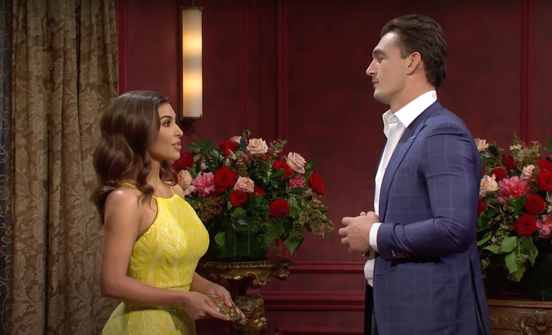 Kim Kardashian and Tyler Cameron on 'SNL'