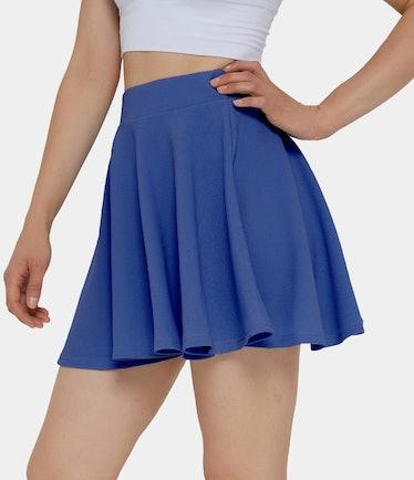 Cassie wears a blue tennis skirt on 'Euphoria.'