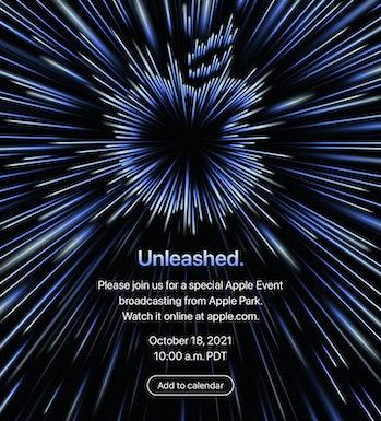 Apple October 18 MacBook Pro refresh invite