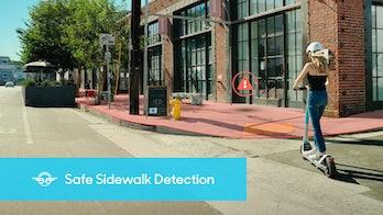Bird scooter promo image for sidewalk detection sensor