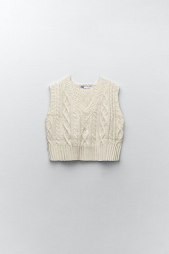 Cable Knit Vest Zara