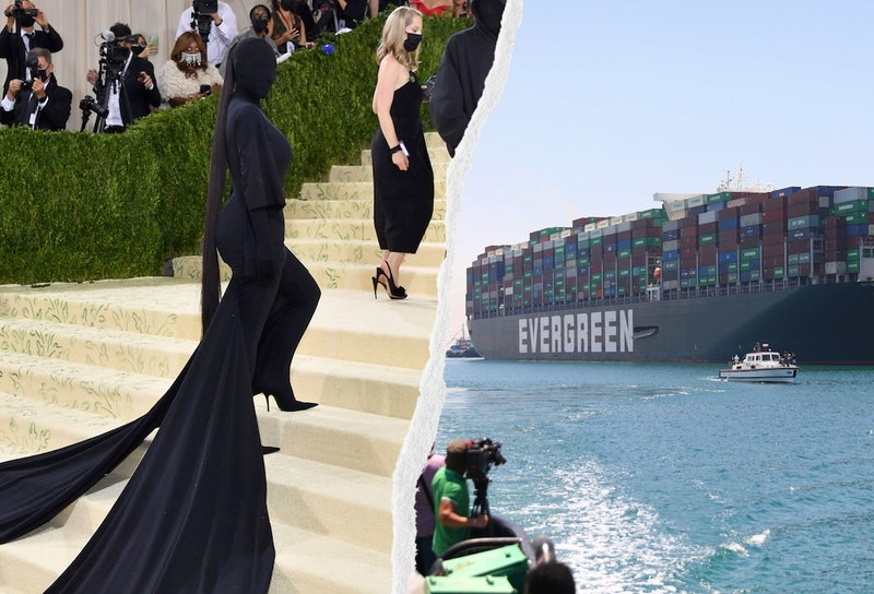 Kim Kardashian at the Met Gala and the Ever Given, the ship that was stuck in the Suez Canal, make g...