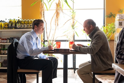Dr. Samuel Finnix (Michael Keaton) and Billy (Will Poulter) in 'Dopesick'