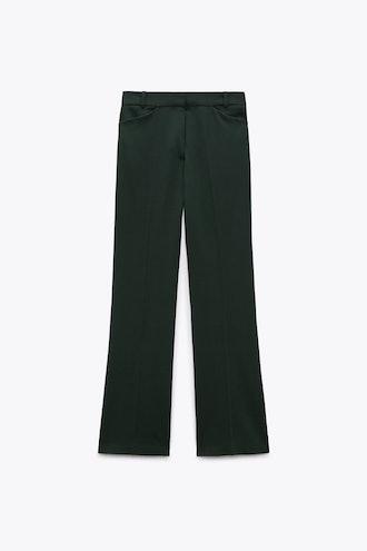 Flared Wool Blend Pants Zara