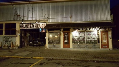 spooky haunted house in Halloween Town, St. Helens, OR