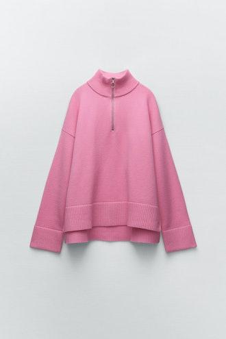 Knit Zip Sweater