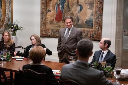 Michael Stuhlbarg as Richard Sackler presiding over a conference table in 'Dopesick'