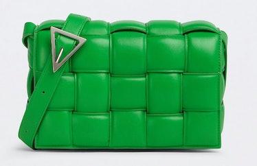 Bottega Veneta's Padded Cassette Bag in parakeet green.