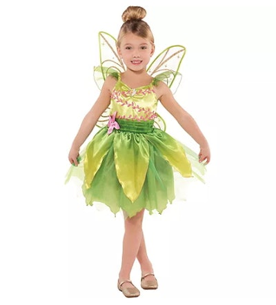 Girl wearing a Tinker Bell costume