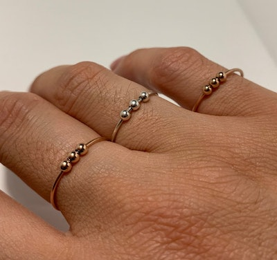 Anxiety Bead Ring with 3 Beads