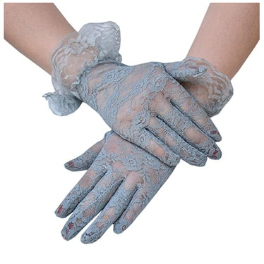 Seeksmile Party Vintage Sheer Lace Wrist Victorian Gloves