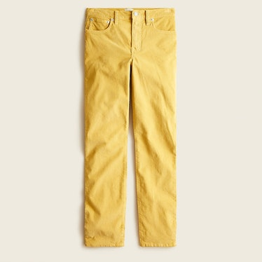 J. Crew yellow corduroy pants.