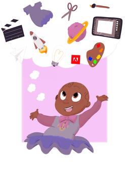 Adobe x Qai Qai coloring book is available to download for free on Adobe and Creative Cloud apps.