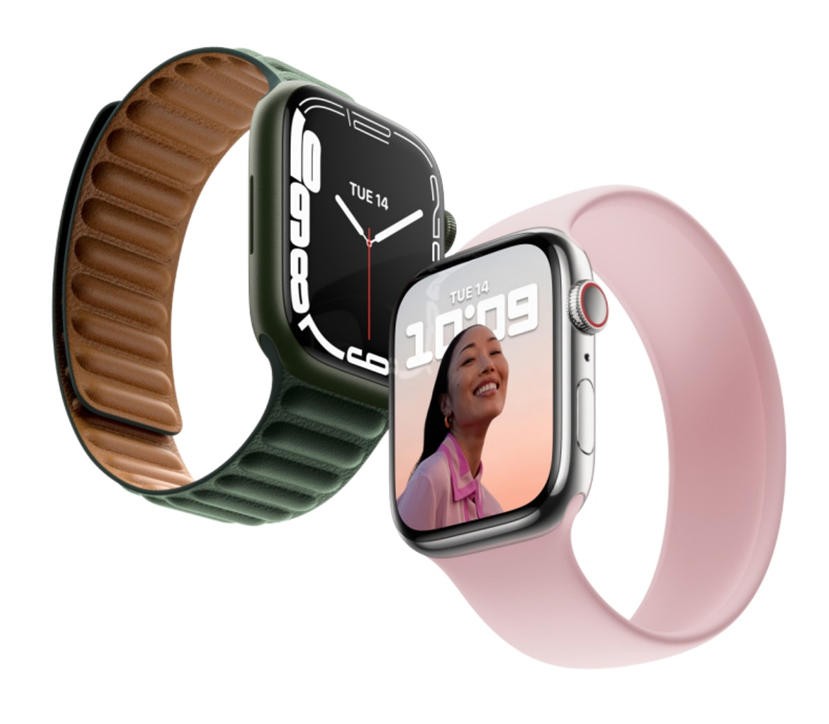 Two new Apple Watch series 7 in green and silver. Is the new apple watch worth it?