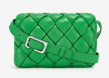 JW Pei green padded maze bag.