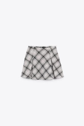 Box Pleat Mini Skirt Zara