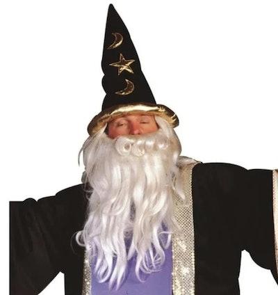 Man wearing a Merlin hat