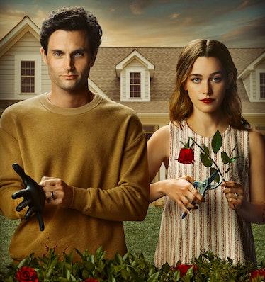 PENN BADGLEY as JOE GOLDBERG and VICTORIA PEDRETTI as LOVE QUINN in Netflix's 'You' Season 3