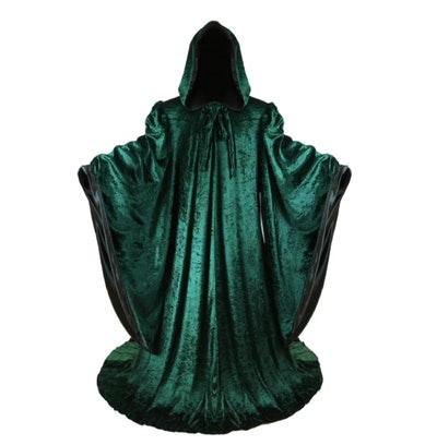 Green wizard robe