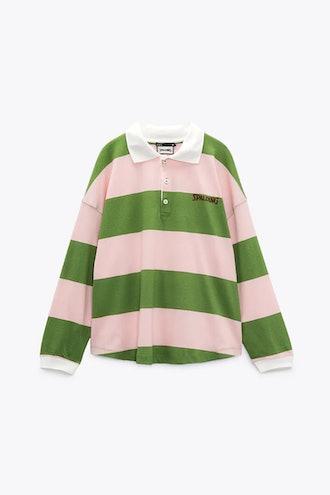 Spalding Striped Polo Shirt Zara