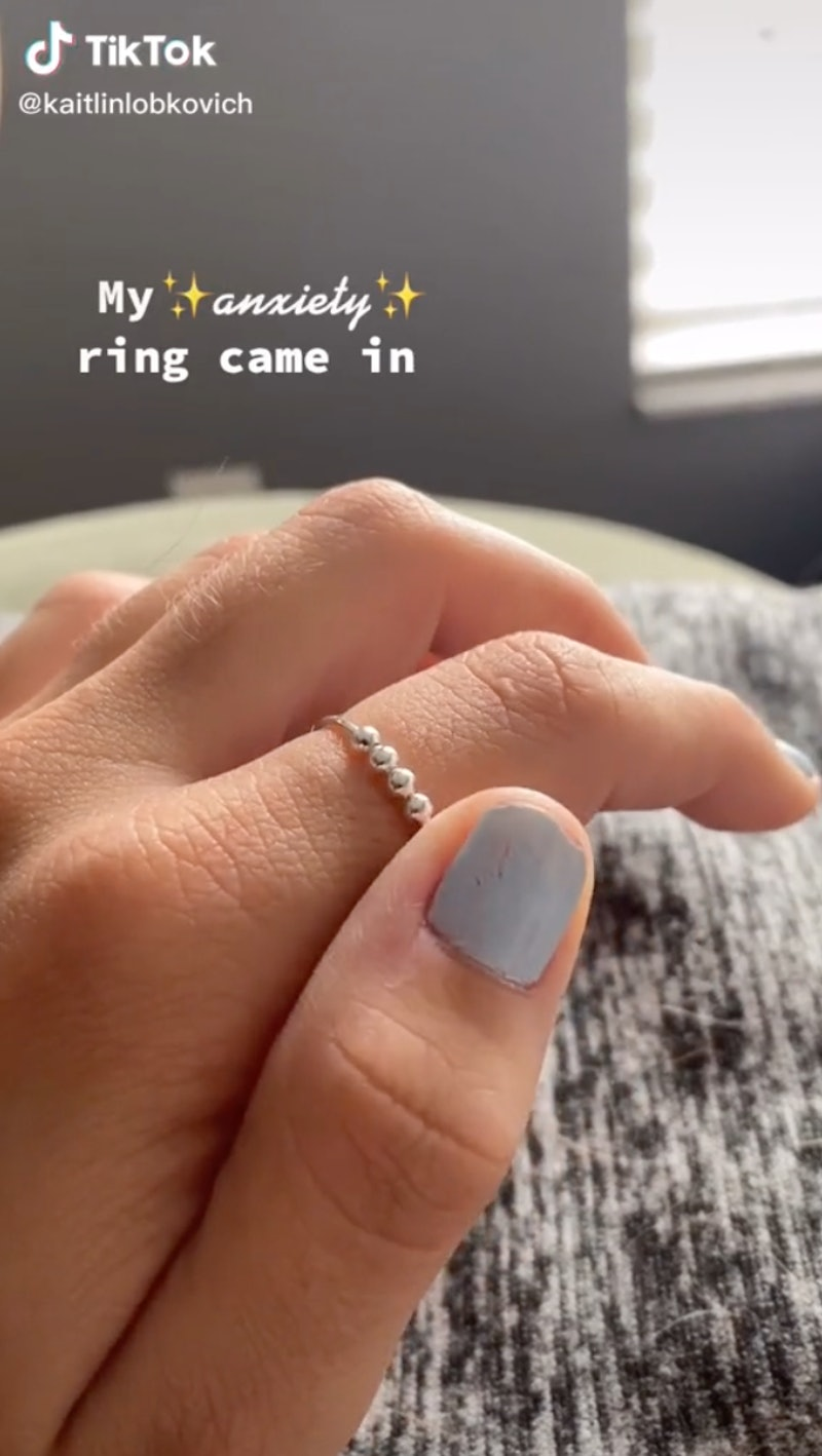 A viral TikTok about anxiety rings.