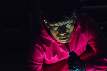 The 'Squid Game' VIP and Jun-ho had a disturbing interaction in Episode 7. Photo via Netflix