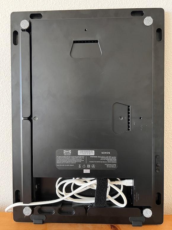 Ikea x Sonos Symfonisk Picture Frame speaker cable management