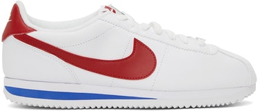 White & Red Cortez Basic Sneakers