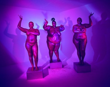 Photograph from Exhibit featuring fat, Black, queer femmes