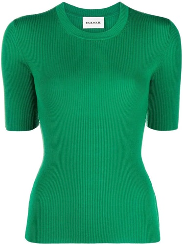 Leila ribbed knit wool T-shirt from P.A.R.O.S.H.