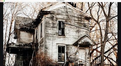 Haunted house zoom background: abandoned house