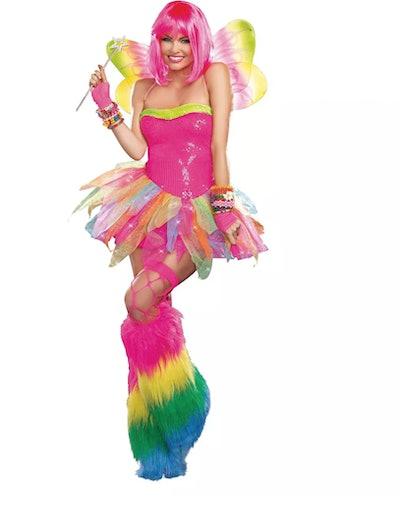 a rainbow fairy Halloween costume for adults